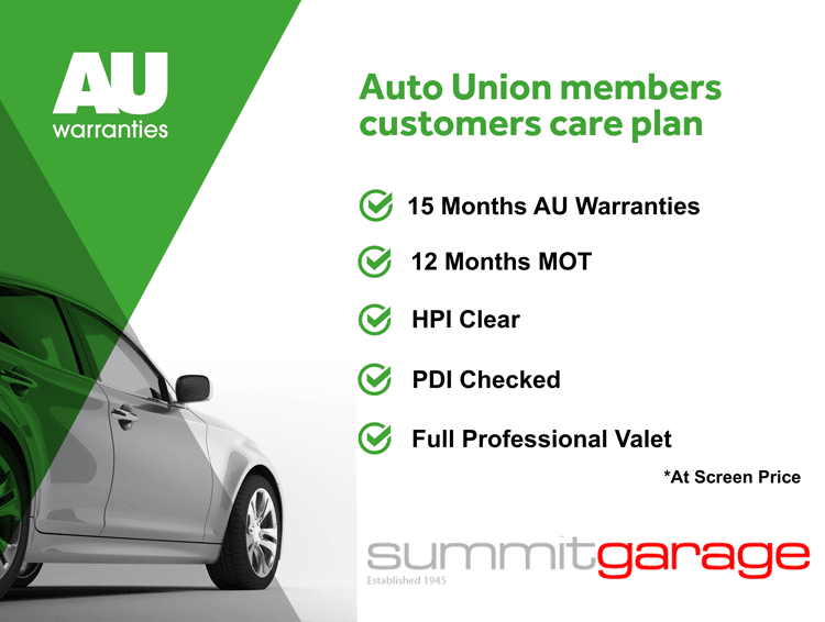 This car comes with a 15 Month Care Plan including 15 Months Warranty and 12 Months MOT